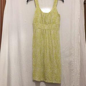 Ann Taylor XS strap Rayon sundress lime green